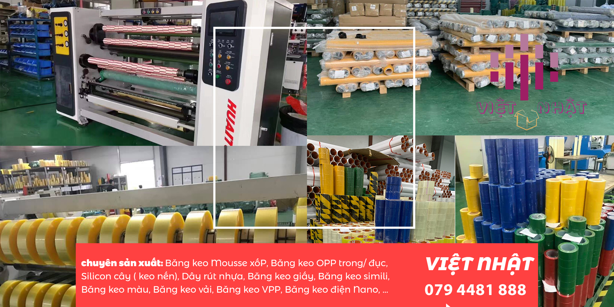 Xưởng sản xuất băng keo giấy chịu nhiệt của việt nhật