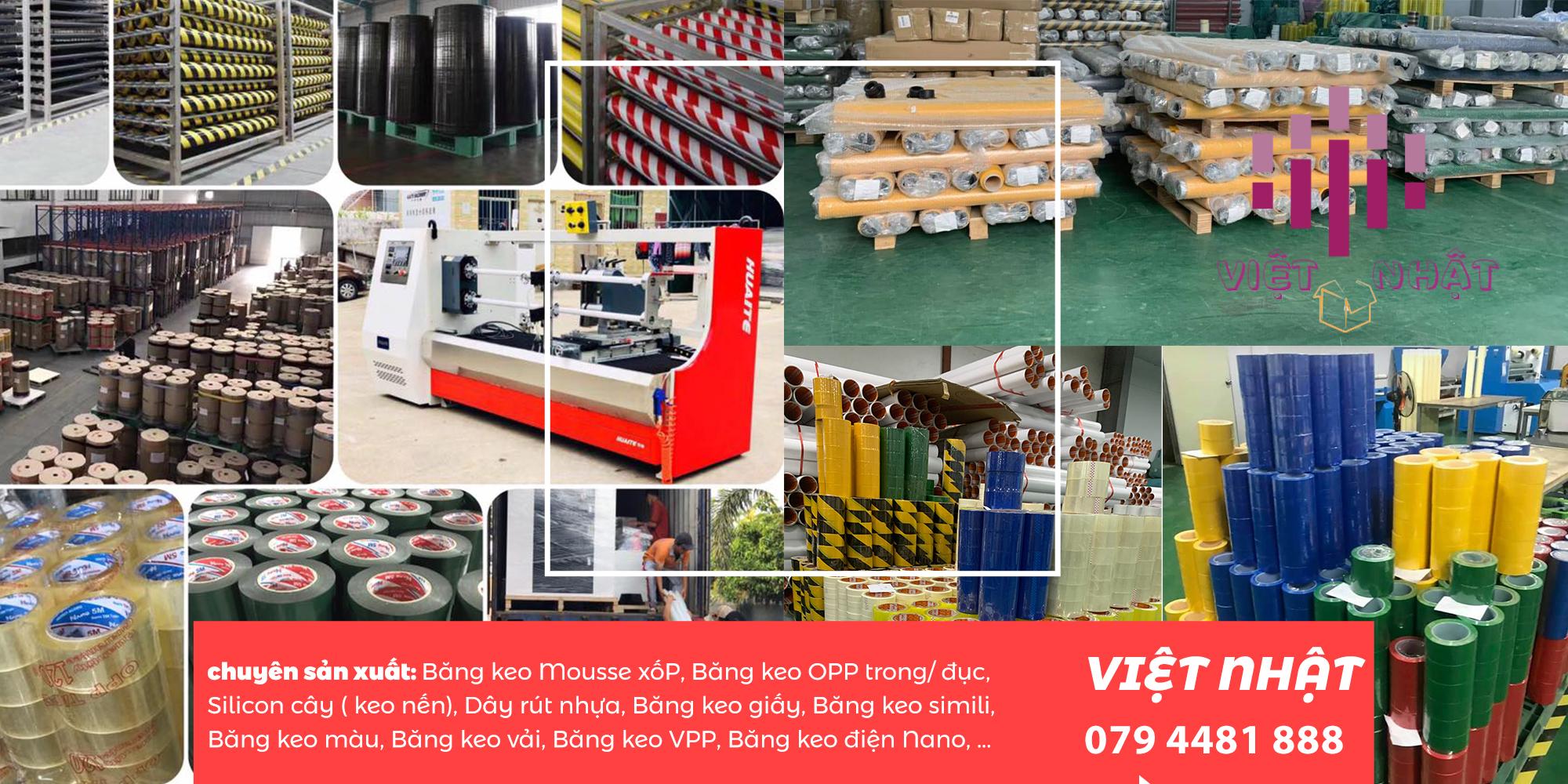 Việt nhật công ty sản xuất và phân phối trực tiếp băng keo màu opp từ nhiều năm nay, với hệ thống nhà xưởng rộng lớn, đầu tư máy móc thiết bị hiện đại, đặc biệt không cần bán thông qua trung gian, nên quý khách hàng có thể yên tâm khi hợp tác với chúng tôi.