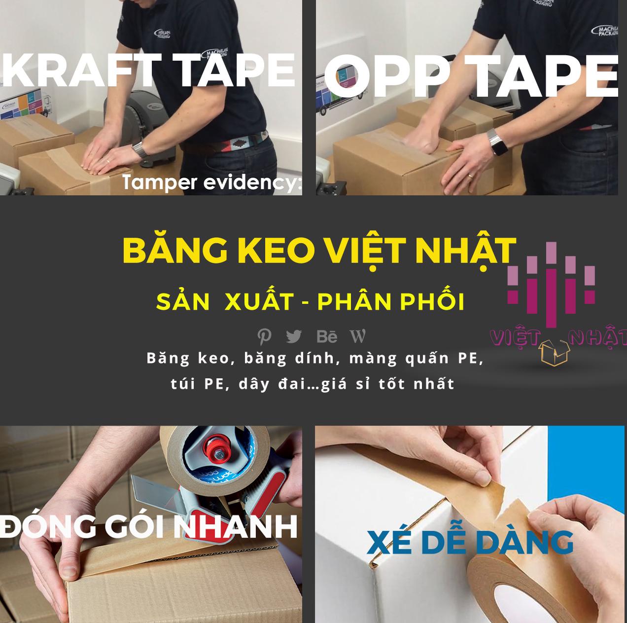 Khả năng viết được trên băng dính Kraft là một trong những ưu điểm nổi bật so với các loại băng dính khác.