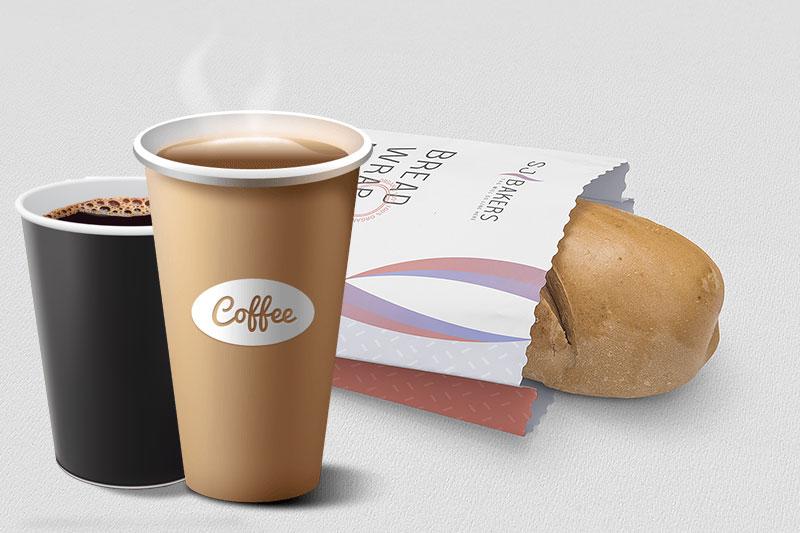 Gói bánh và cà phê bằng giấy kraft tráng - Giấy kraft tráng pe là gì
