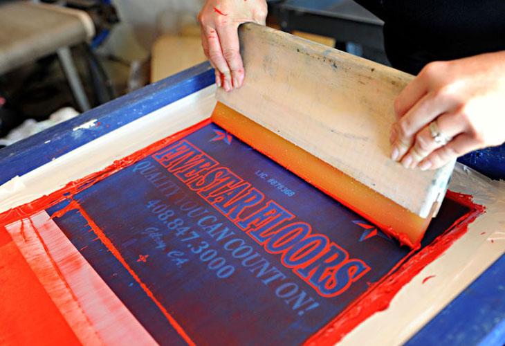 Kỹ thuật in lụa trên giấy