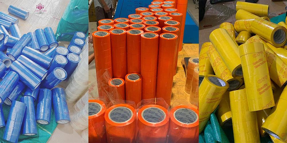 Việt nhật chúng tôi sản xuất buôn bá n sỉ lẻ tất cả các loại băng keo màu đóng gói nhiều quy cách khác nhau nhận đơn hàng đặt theo quy cách của quý khách hàng