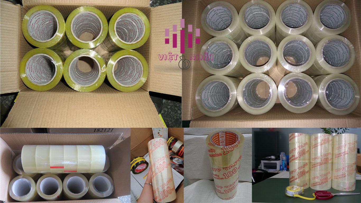 Việt nhật chuyên sản xuất băng keo trong 100 yards tiết kiệm chi phí hơn những loại băng keo trong có chiều dài ngắn hơn